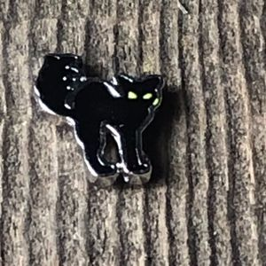 Black Cat Floating Charm for Living Locket